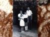 """"""" Gábor Szakos"""" család : Szakos Marika, Szakos Györgyné Gondozó Katalin, Szakos Gyurika, Szakos Gyuri 1962-63 körül"""