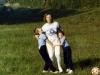 Hársfalvi Péter,  Marcsi, édesanyjukkal