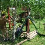 A régi játszótér felújítása Valkonyán